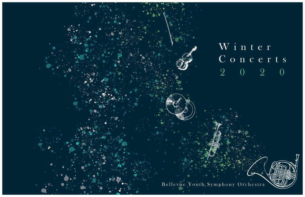 Winter concert program cover outside