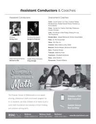 Page from Winter Program